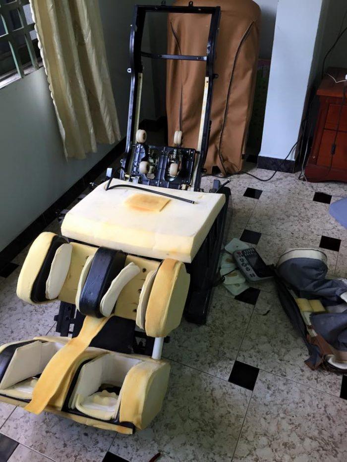 dịch vụ thay túi hơi ghế massage chuyên nghiệp