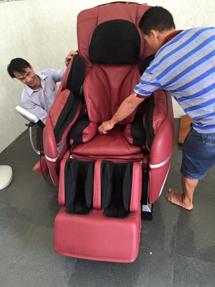 tại sao lưng ghế massage ko chạy